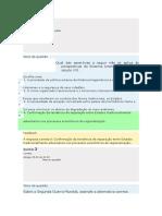 Gabarito - Modulo III - Relações Internacionais