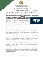 NOTA DE PRENSA N° 010 EMPRESAS SE CAPACITARÁN EN REGISTRO DE EMISIONES