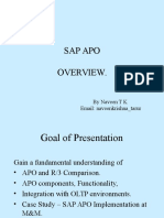 APO Overview PPT for SAP