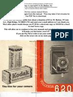 Manual Camara Kodak Vollenda 620