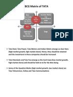 Example on BCG Matrix