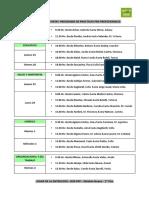 Cronograma de Entrevistas PPP 2016