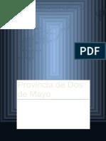 Provincia de Dos de Mayo - Realidad Nacional