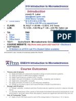 pennsylvania unv microelectronics Lec 1 Introduction