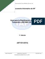 IAF ID9-2015 Transicion a ISO 9001-2015 (Sp)