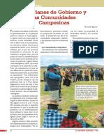 Los Planes de Gobierno y  las Comunidades Campesinas