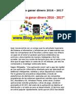 Apps Para Ganar Dinero 2016 – 2017