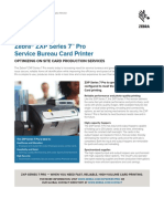 Zebra ZXP Series 7 Pro, Specification Sheet, English, NALA