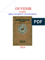 1914 Souvenir Notes - Bible Students' Conventions