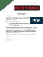 Brockett Heights Notification Letter Stranger Things 2ndUnit ReturnNEW