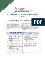 5th construction studies scheme of work