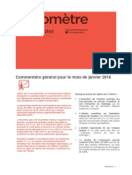 Baromètre Auvergne-Rhône-Alpes / janvier 2016