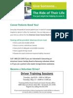 Driver Training Schedule