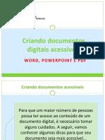 Criando Documentos Digitais Acessiveis