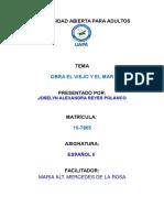 Elviejo y El Mar Trabajo Final Español II