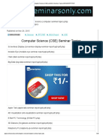 Computr Sceience (CSE) and MCA Seminar Topics 2015 2016 PPT PDF