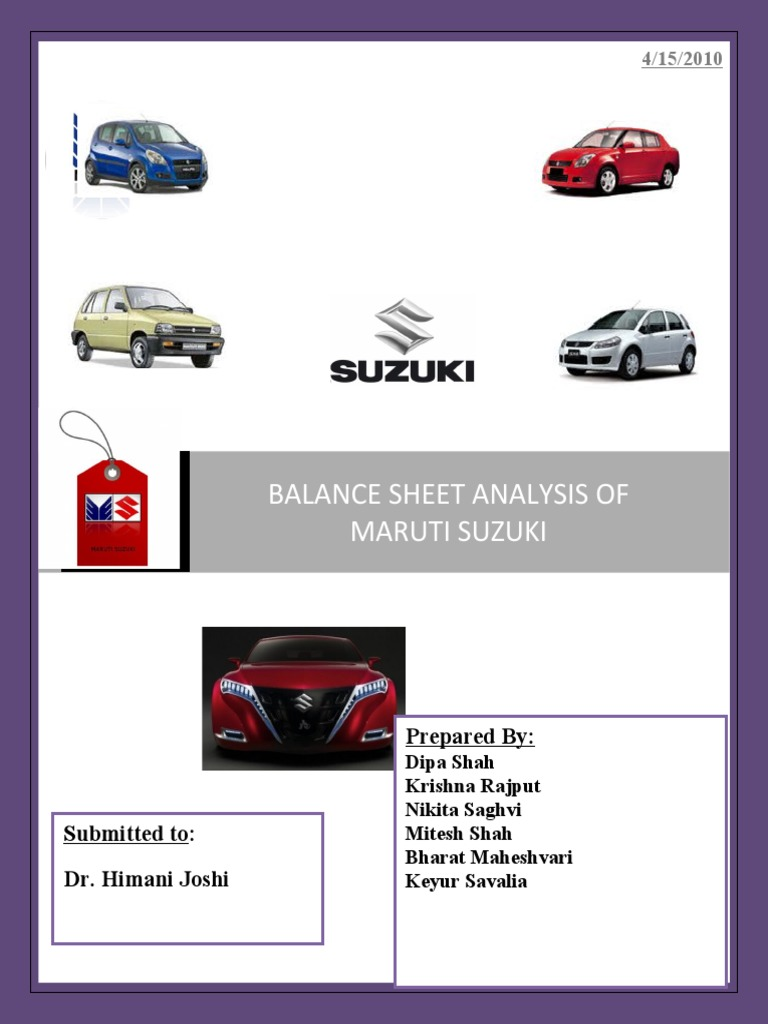 financial analysis of maruti suzuki india Find the latest and comprehensive swot & pestle analysis of maruti suzuki, the largest car manufacturer in india.