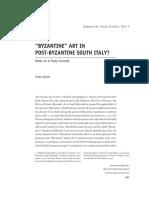 Byzantine Art in Post-Byzantine Southern Italy
