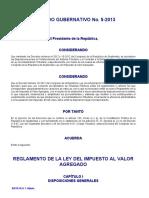 Acuerdo Gubernativo 5-2013 (Reglamento Ley Iva)