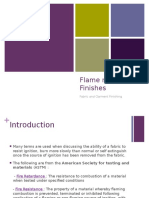 Flame Resistant Finishes
