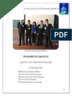 Pensamiento Creativo - Informe Final