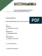 257830173 Plan de Trabajo de Las Elecciones Del Concejo Escolar 2015