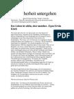 Egon Erwin Kisch - Mit Sicherheit untergehen