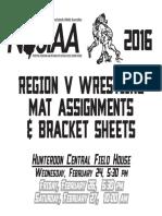 Region 5 Brackets and Mat Assignments