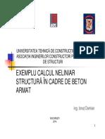 Verificarea neliniara a structurilor Slide 3