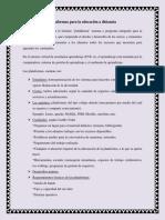 Plataformas Para La Educación a Distancia