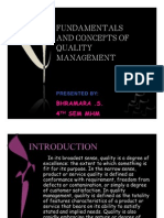 Fundamentals and Concepts of Quality Management