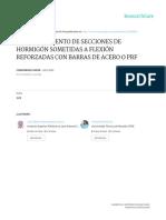 Comportamiento de Secciones de Hormigón Sometidas a Flexión Reforzadas Con Barras de Acero o Prf