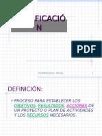 VI - Planificación