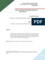 RODRIGUES & OLIVEIRA - As Conseqüências Para a Educação Da Dicotomia Entre Fatos e Valores