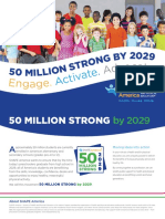 shape america-50 million strong brochure
