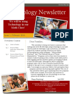 teaching math- tech newsletter