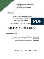 Teorías de Colas Investigacion de Operaciones ll