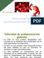 Velocidad de Sedimentación Globular