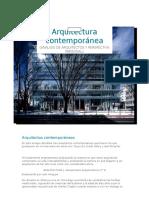 Arquitectos Contemporáneos Ensayo