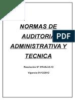 Normas de Auditoria Administrativa y Tecnica Isj Dic012012