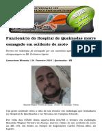 Funcionário Do Hospital de Queimadas Morre Esmagado Em Acidente de Moto