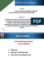 School Reorganisation (SCORE) Consultation Meeting Presentation - February 2016