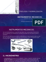 Metrología y Normalización- Instrumentos Mecanicos