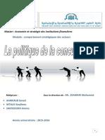 Rapport La Politique de La Concurrence