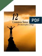 12 Common Sense Ideas