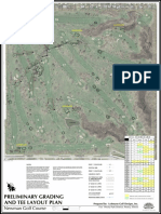 Preliminary grading and tee layout plan for Newman Golf Course