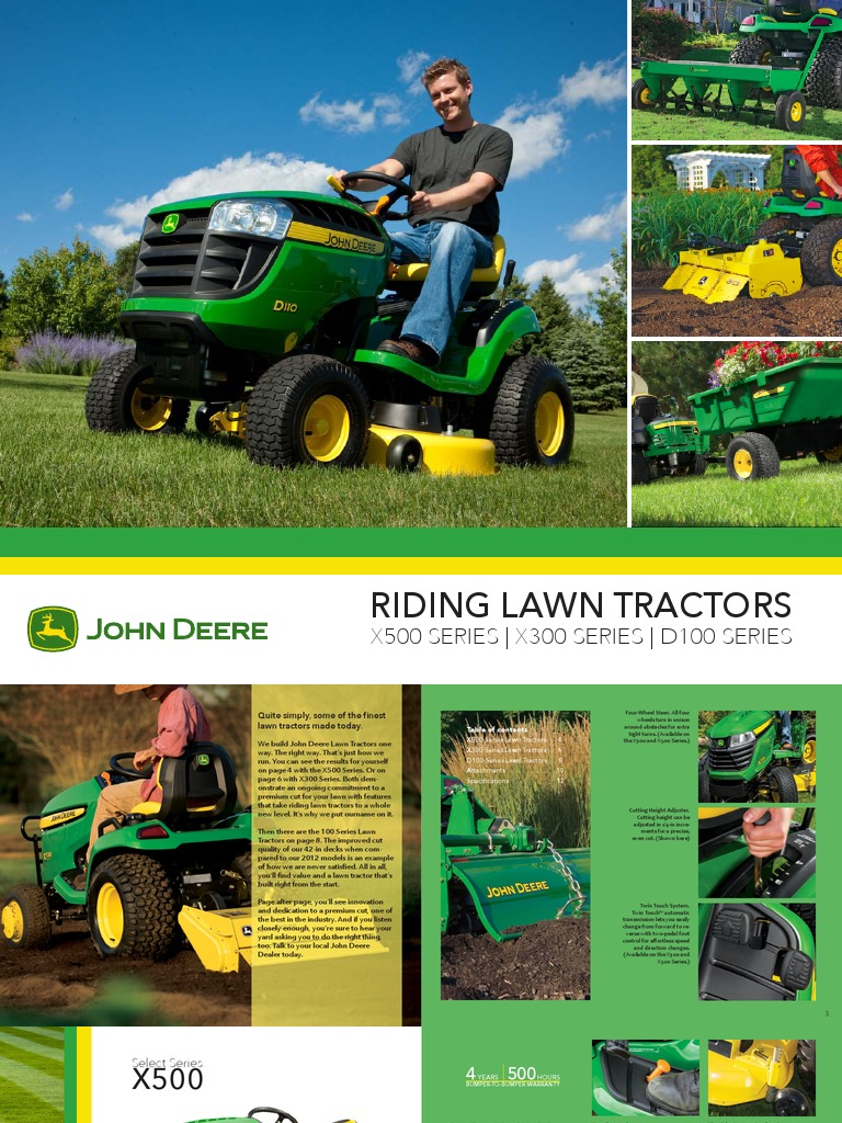 john deere product brochure | Tractor | Lawn Mower