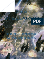Pax Stellarum- Rulebook