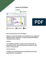 Partes de La Ventana de Publisher