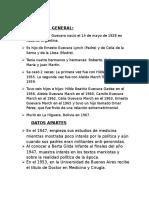 """Biografia General - Ernesto """"Che"""" Guevara"""
